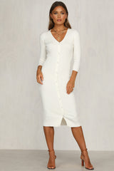 Freja Knit Dress (Ivory)