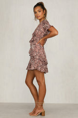 Fall Behind Dress (Pink Leopard)