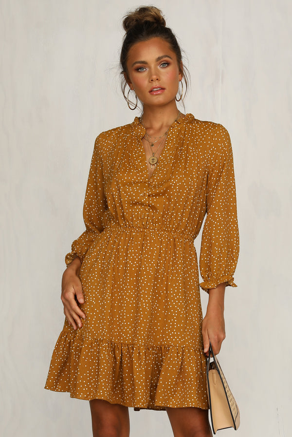 Dusky Light Dress (Mustard)