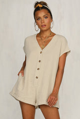 Liason Playsuit (Beige)