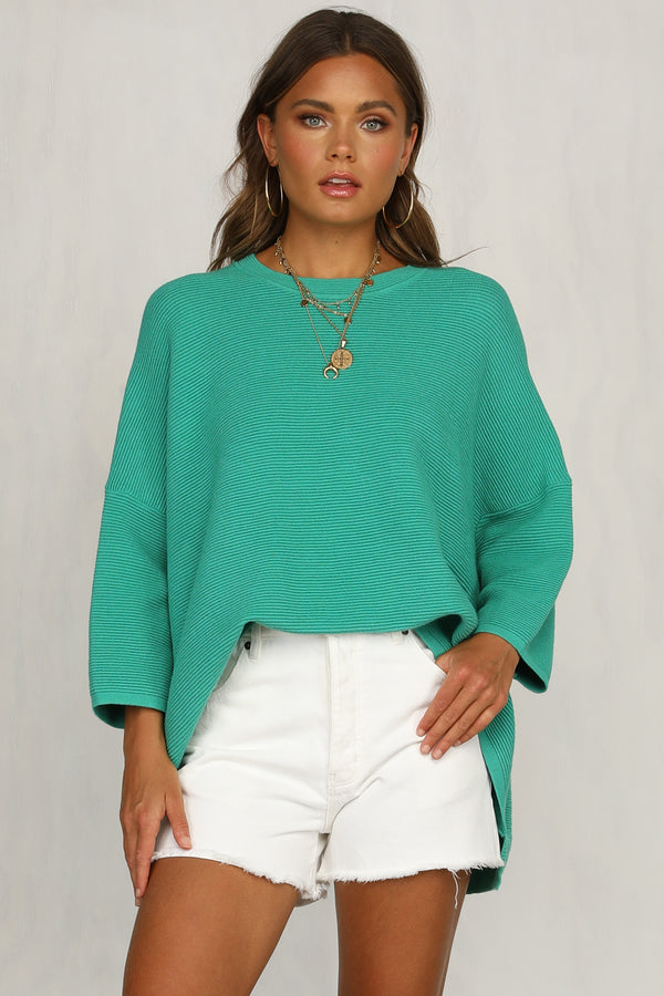 Heartbreaker Knit Top (Green)