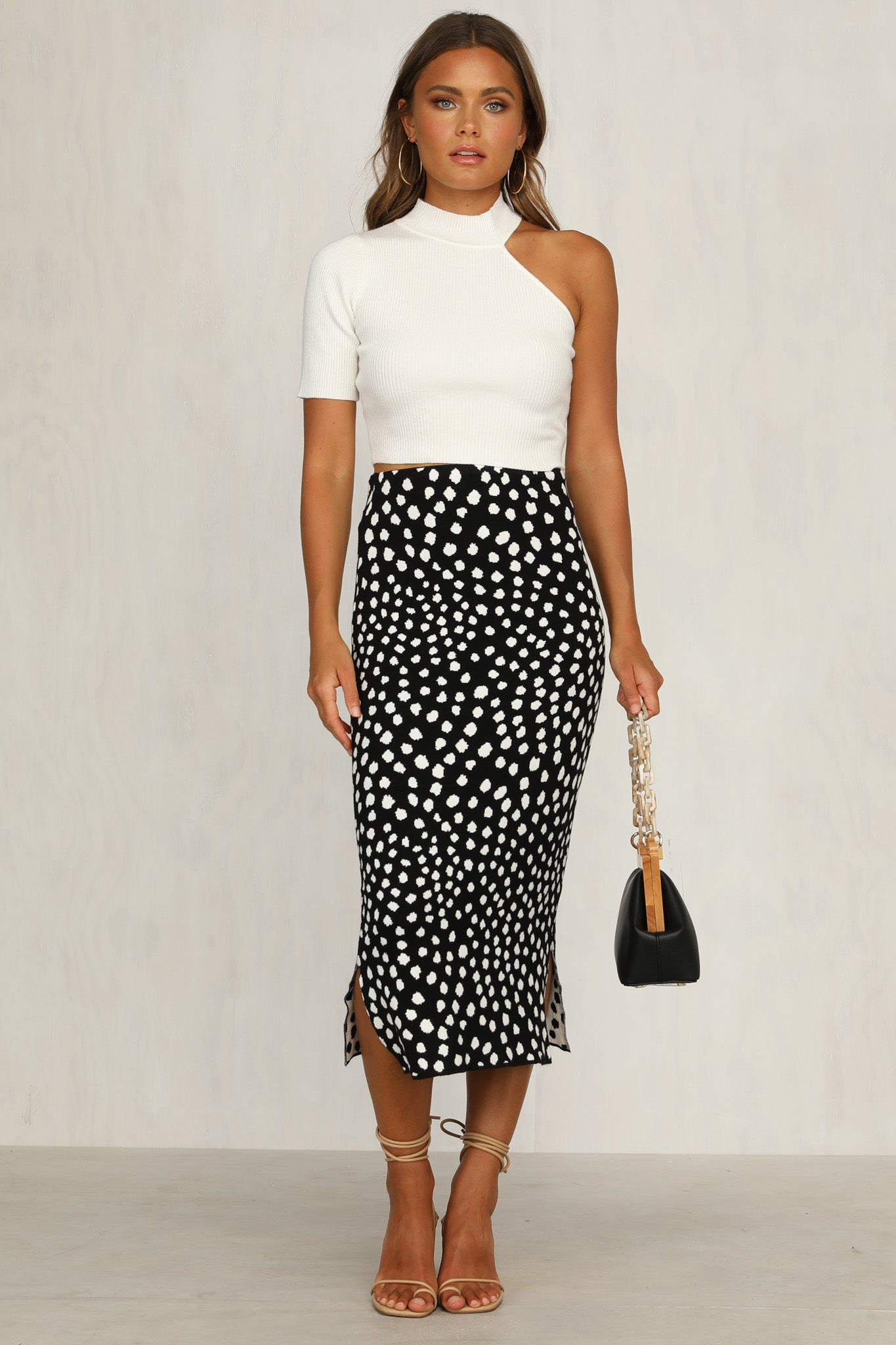 Up Late Skirt (Black Spot)