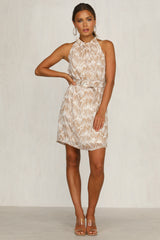Memento Dress (Tan)