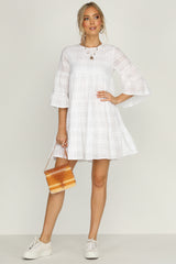 Slide Away Dress (White)