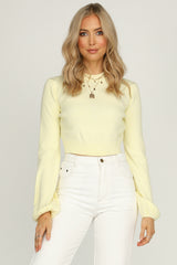 Indulge Me Knit (Yellow)