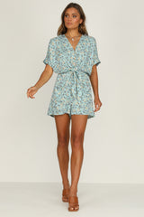 Midsummer Playsuit (Blue)