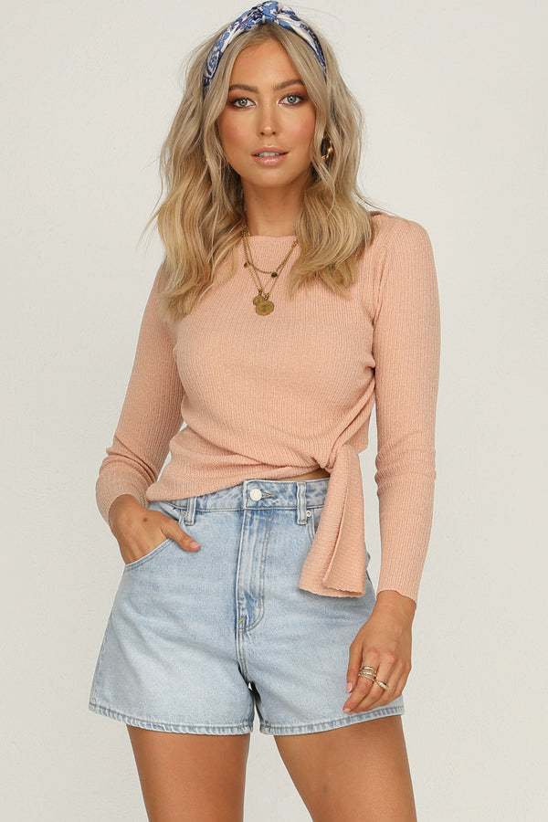 Switch Knit Top (Blush)