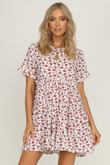 Slice Of Heaven White Floral Dress