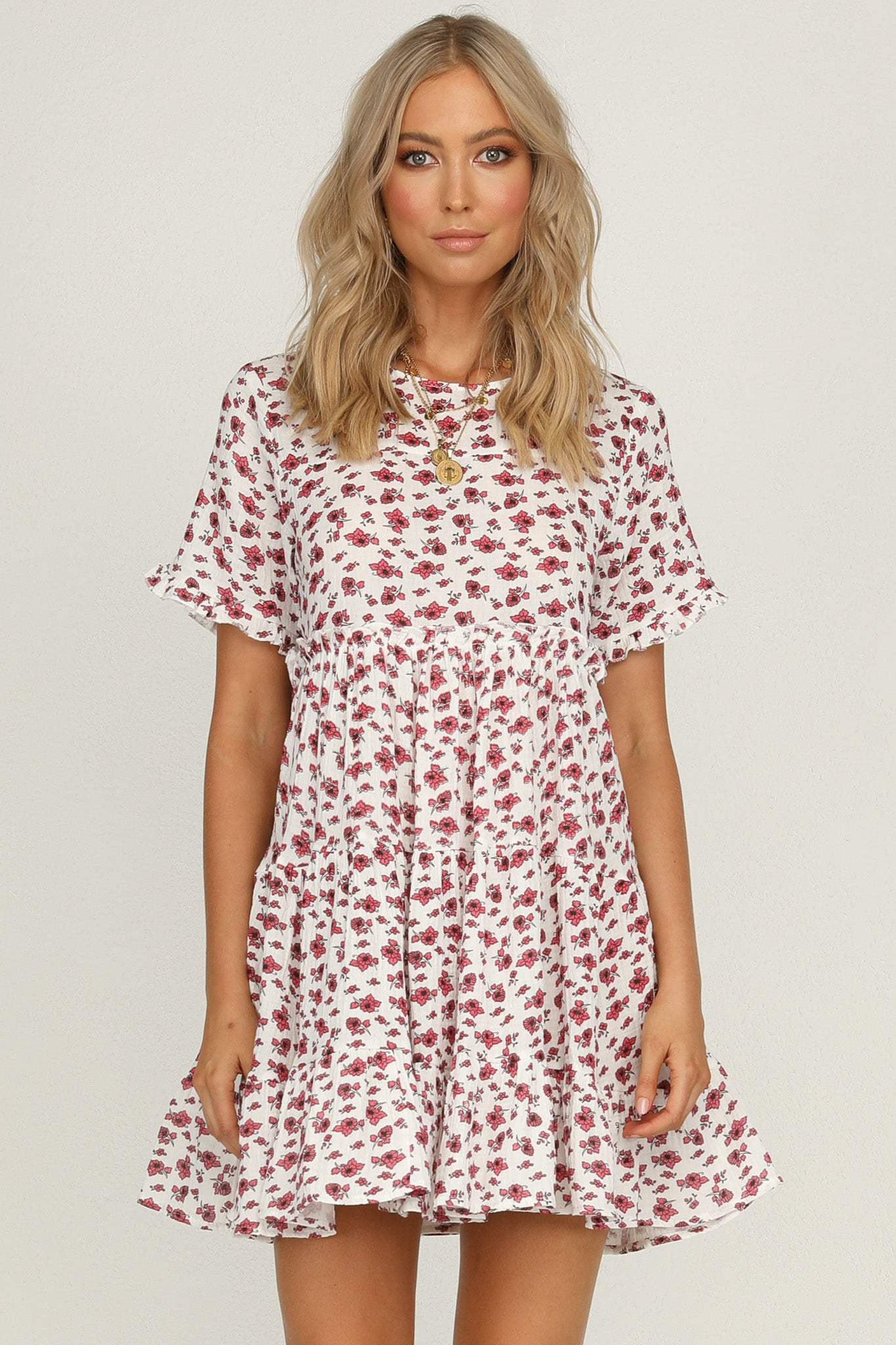 Slice Of Heaven Dress (White Floral)