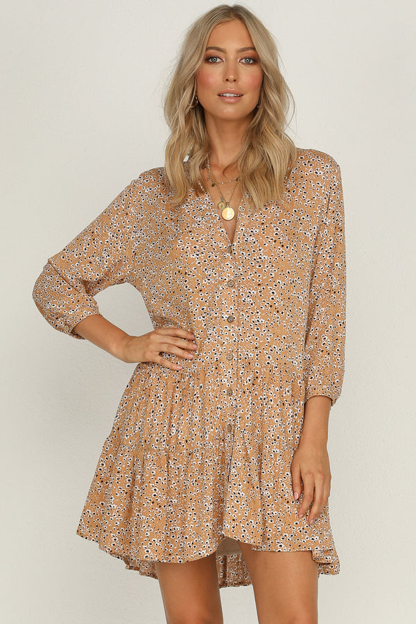 Ride Of Life Dress (Tan)