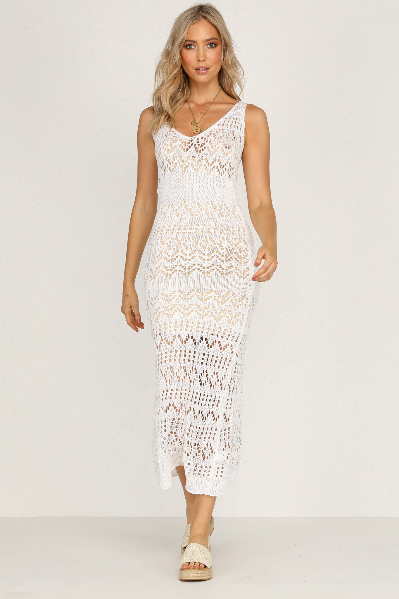 Dylan Maxi Dress (Ivory)