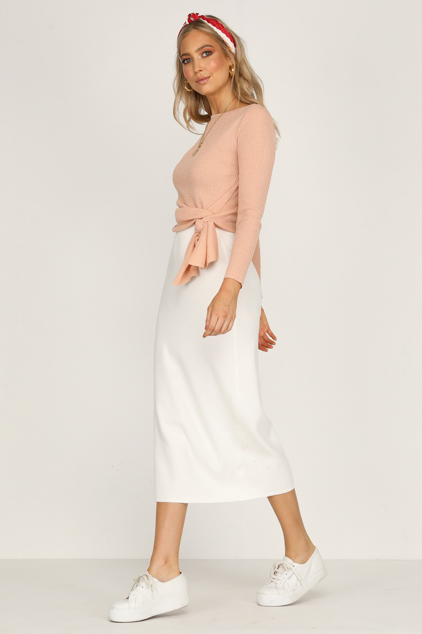 Dahlia Knit Skirt (White)
