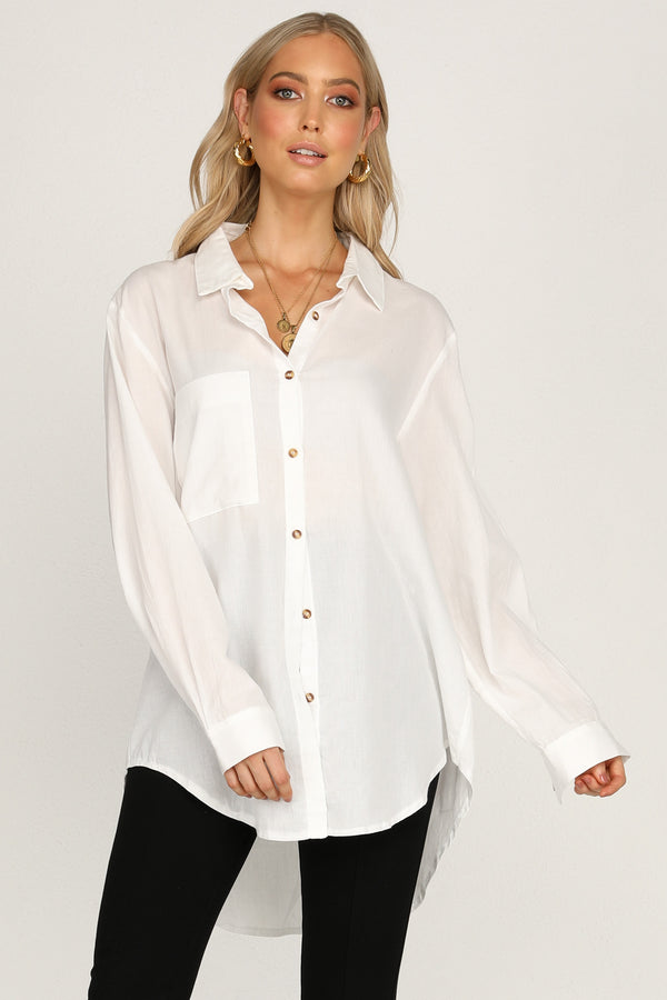 Leopold Oversized Shirt (White)