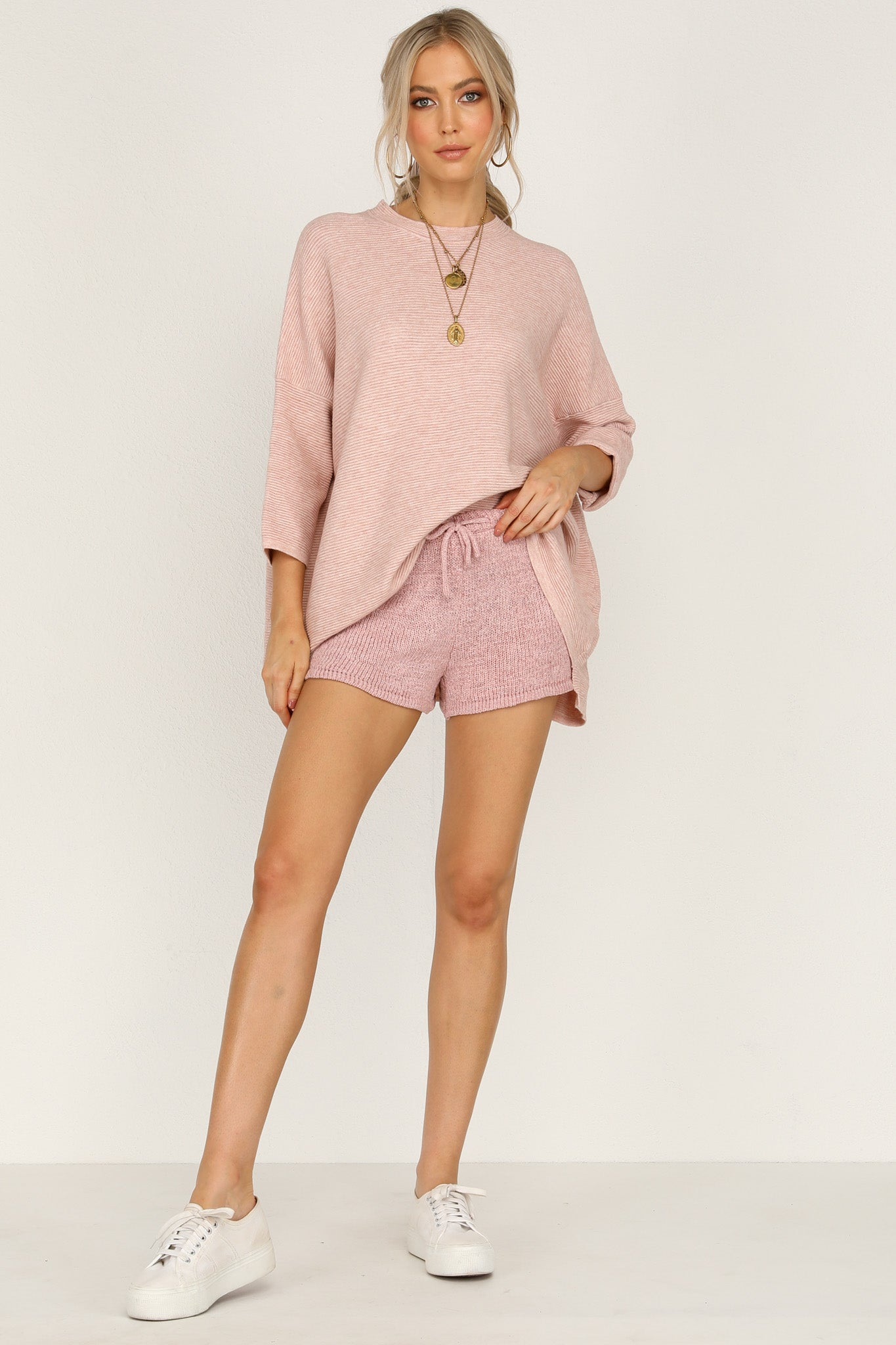Heartbreaker Knit Top (Blush)