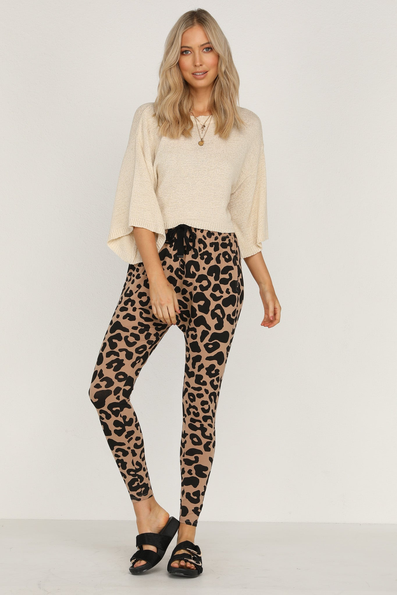 Jordan Pants (Tan Leopard)