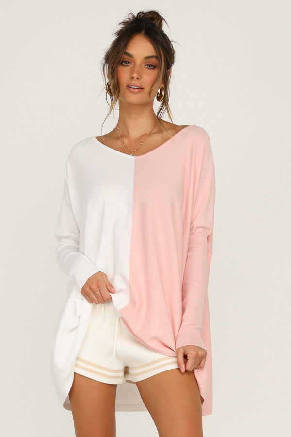 Absolute Clarity Knit (White/Pink)