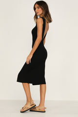 Cloud Nine Ribbed Dress (Black)