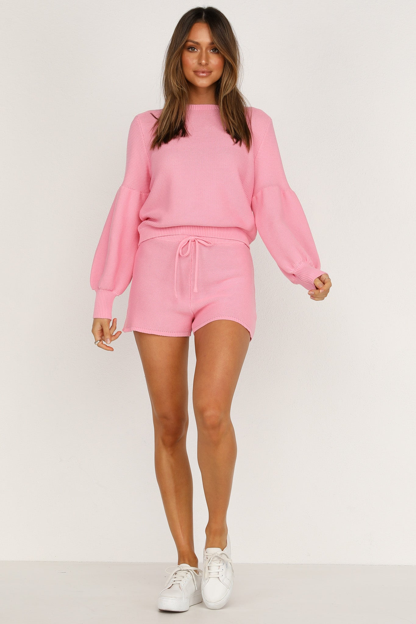 Hendrix Knit Shorts (Pink)
