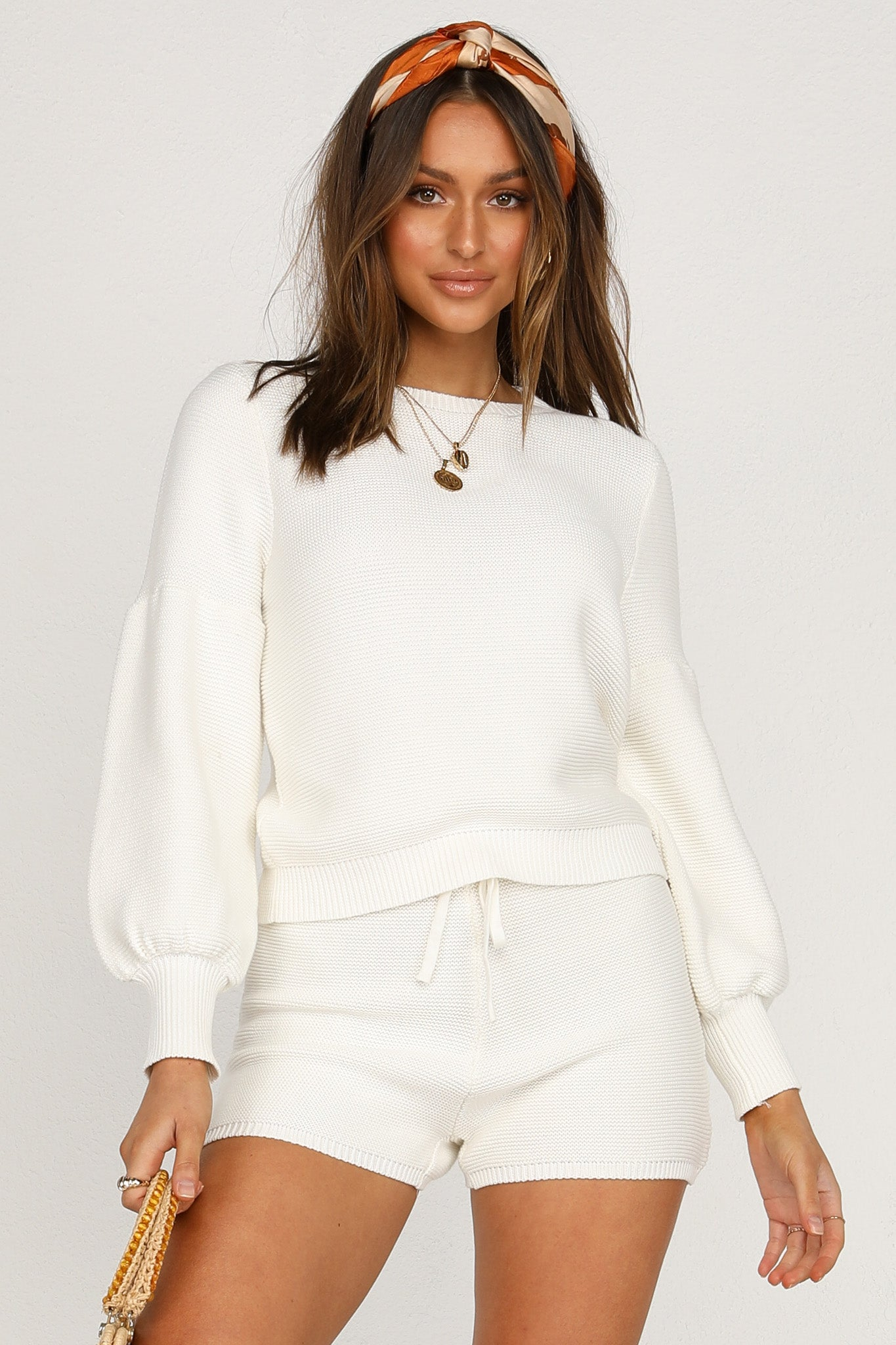 Hendrix Knit Top (White)