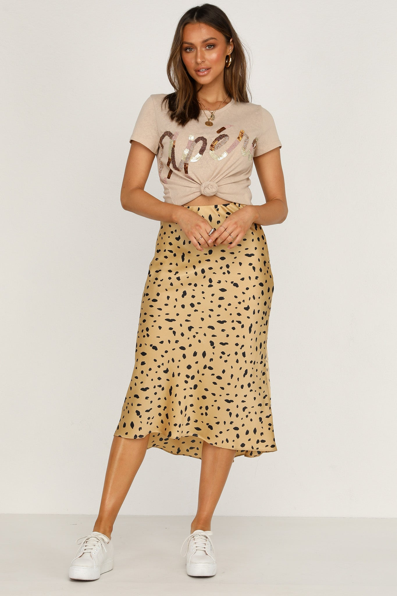 Midnight Runner Skirt (Tan)