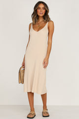 Lose Control Dress (Beige)