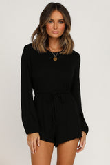 Pressure Off Playsuit (Black)