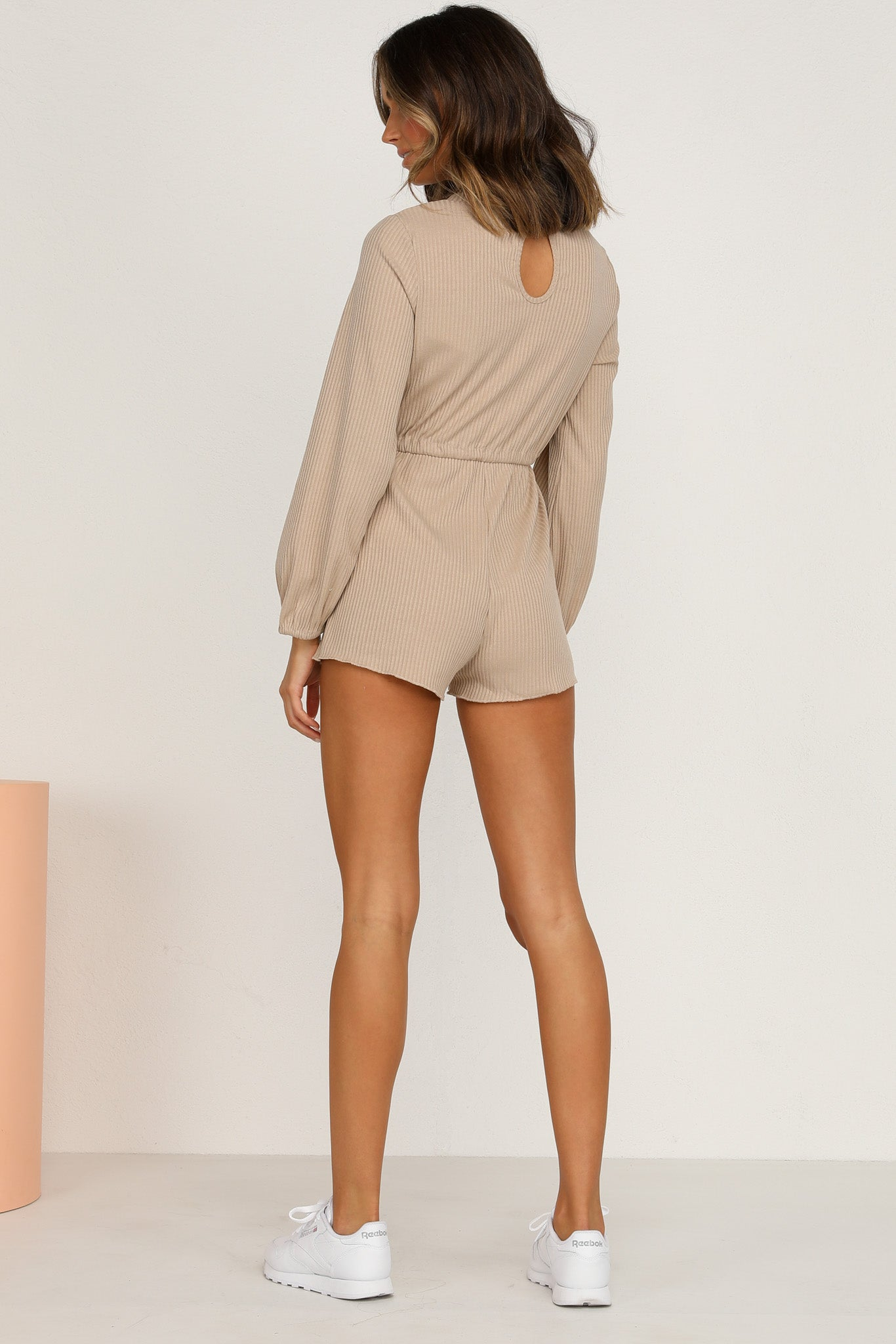 Pressure Off Playsuit (Tan)