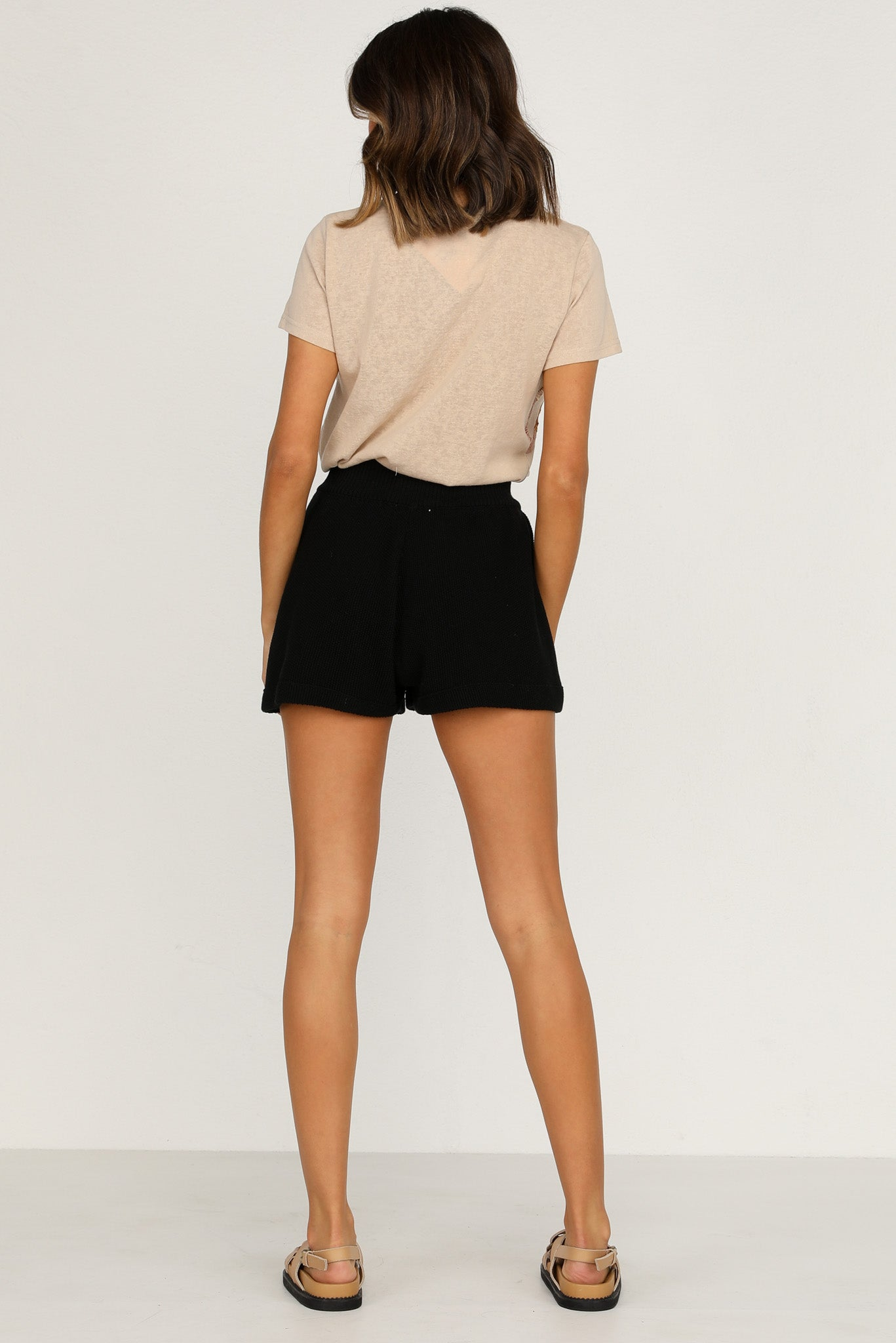 Quinn Knit Shorts (Black)