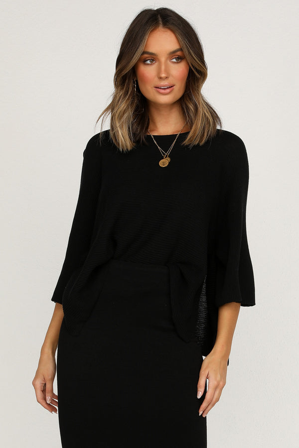 Mae Knit Top (Black)