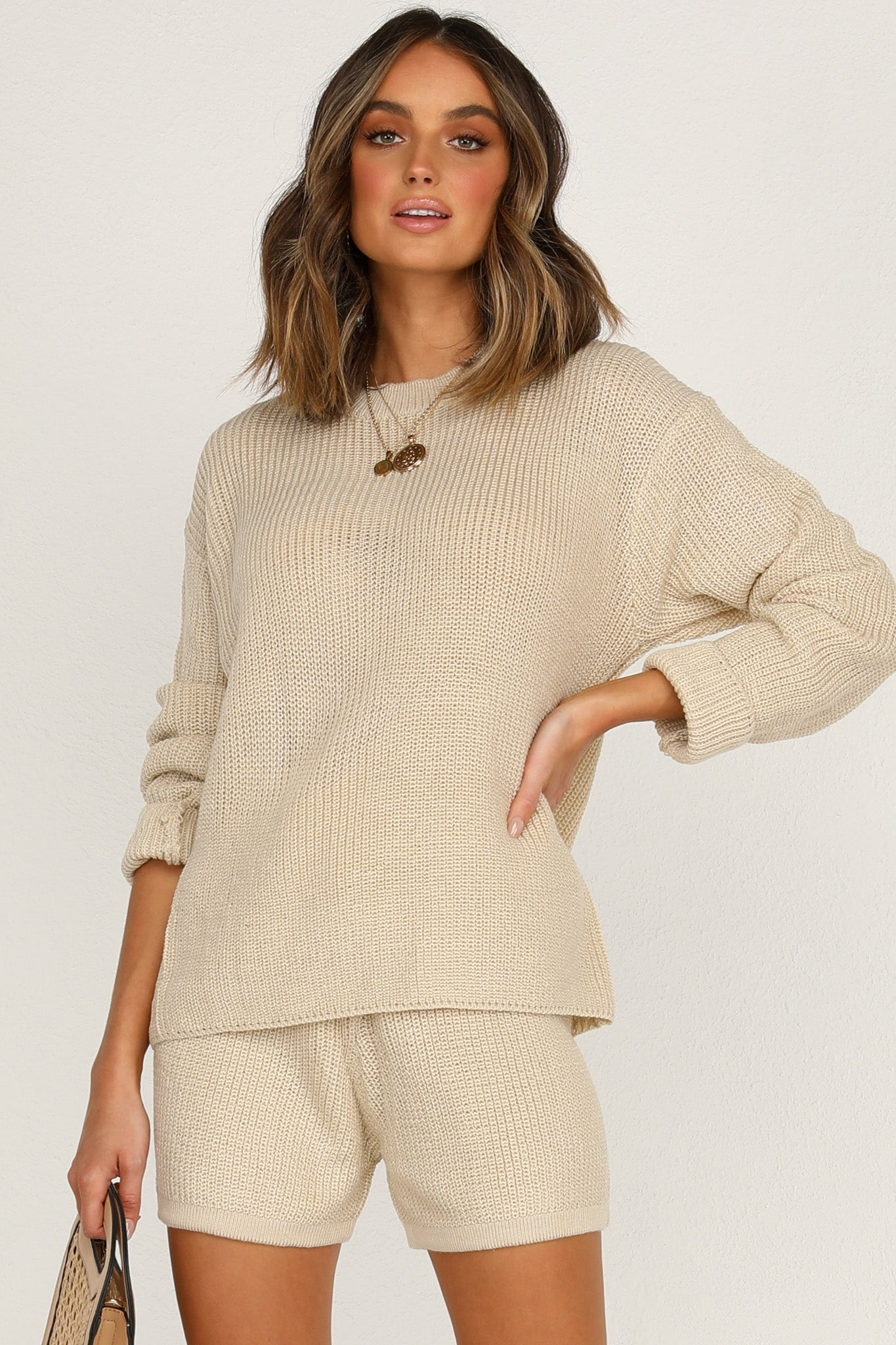 Magic Hour Knit Top (Beige)