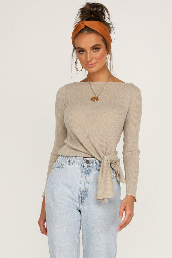 Switch Knit Top (Beige)