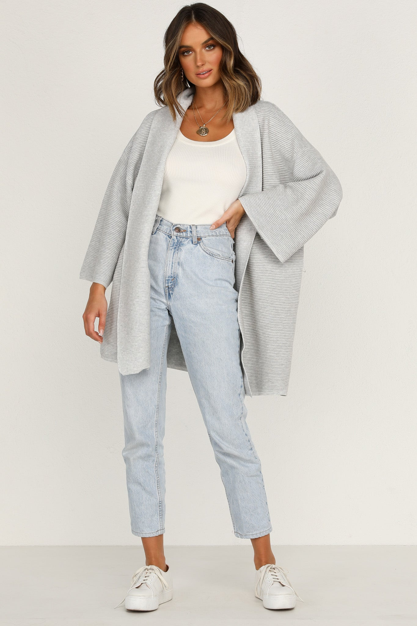 Make A Move Cardigan (Grey)