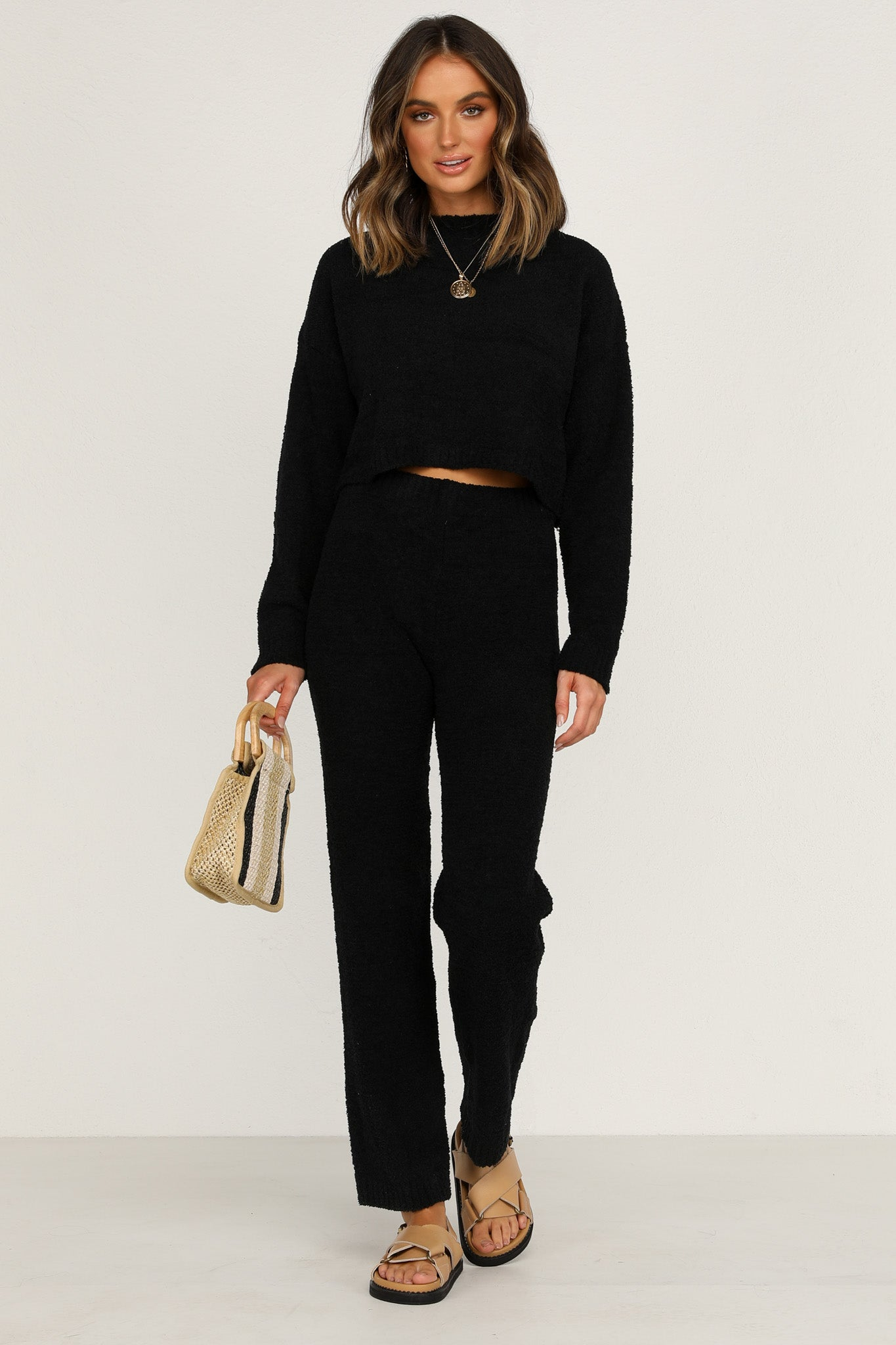 Astoria Knit Pants (Black)
