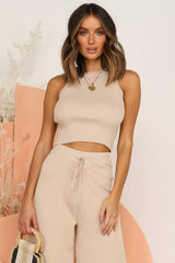 Chandon Knit Top (Beige)