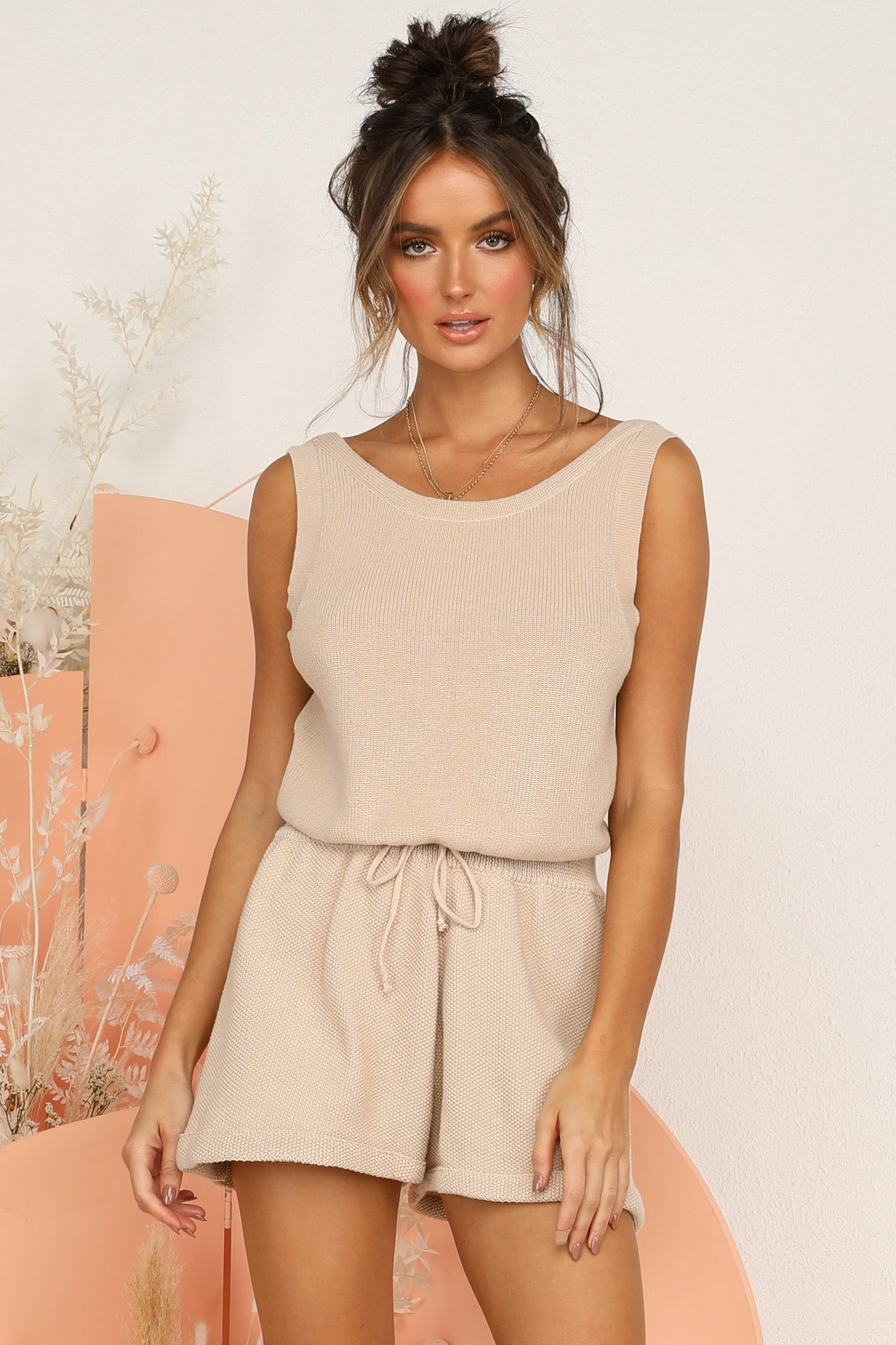 Greta Knit Top (Beige)