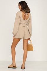 Merci Knit Shorts (Beige)