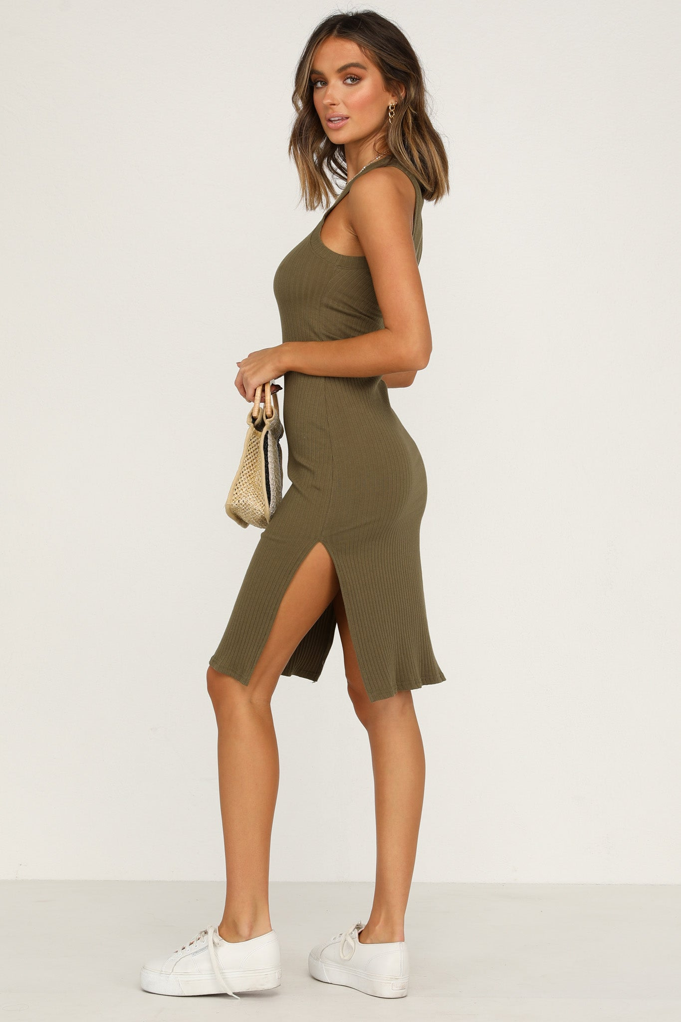 Promises Dress (Khaki)