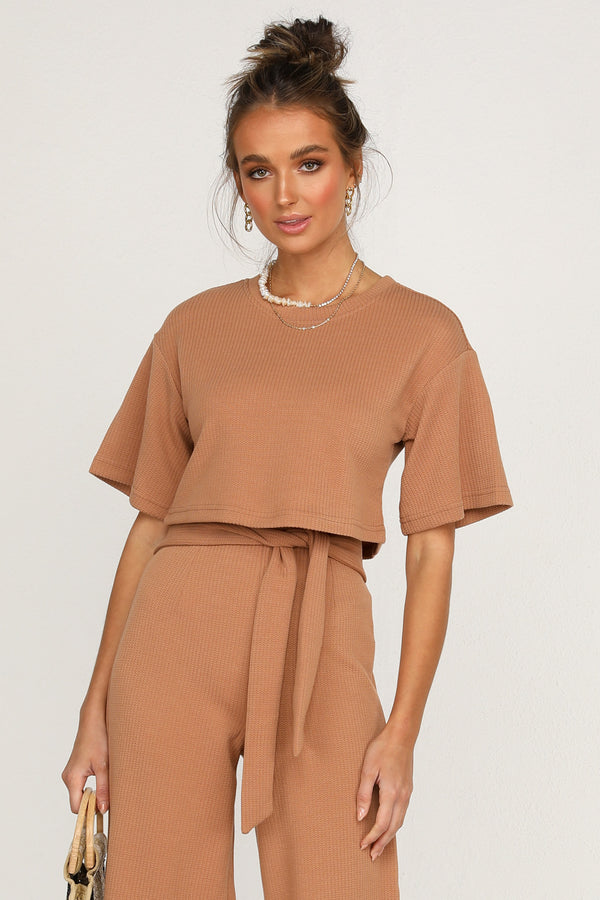 Love Trap Top (Tan)