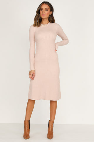 Marquise Knit Dress (Blush)