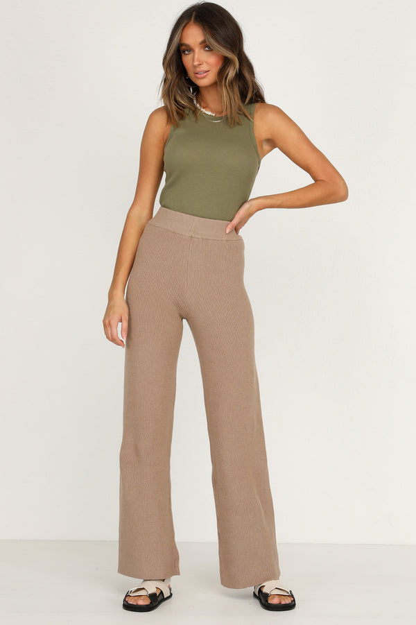 Drivers Seat Knit Pants (Tan)