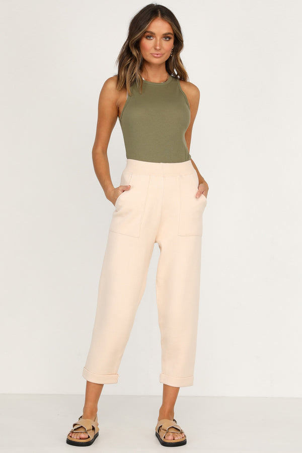 Shailee Knit Pants (Nude)