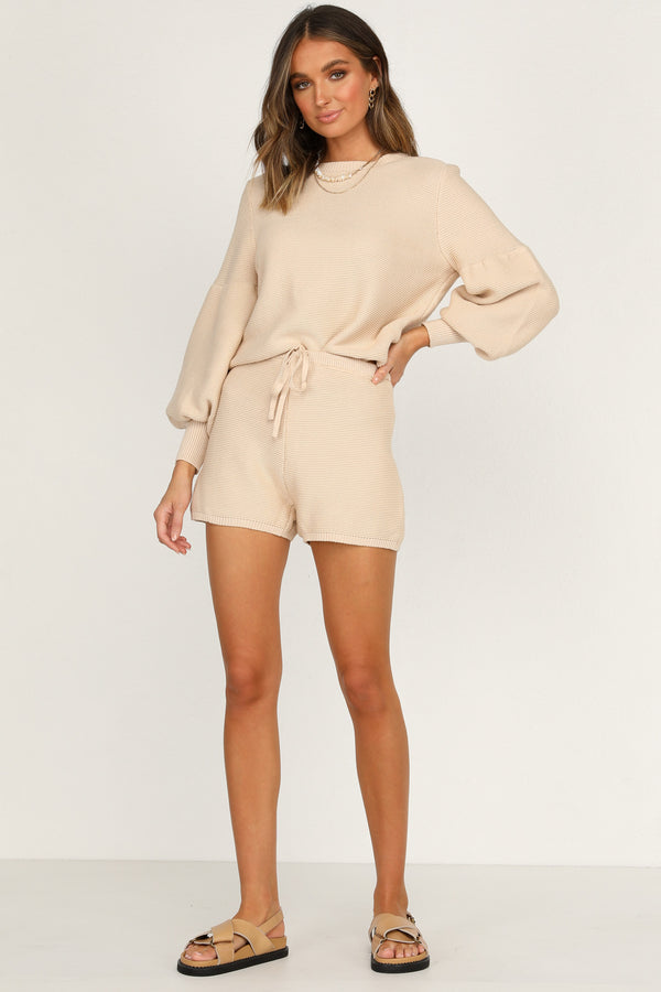 Hendrix Knit Top (Beige)