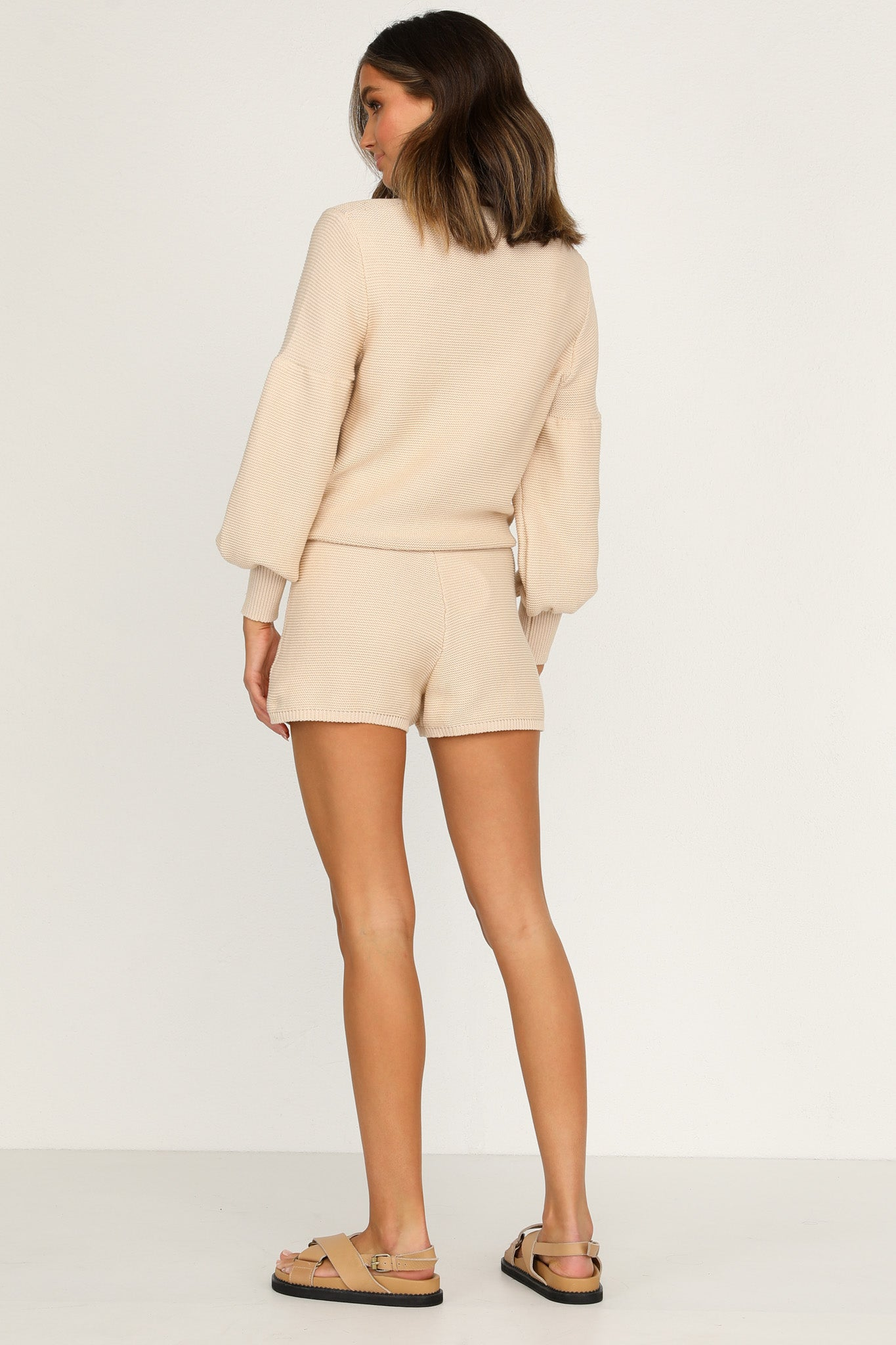 Hendrix Knit Shorts (Beige)
