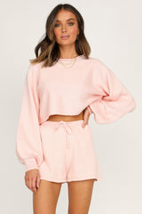 Chantelle Knit Shorts (Blush)