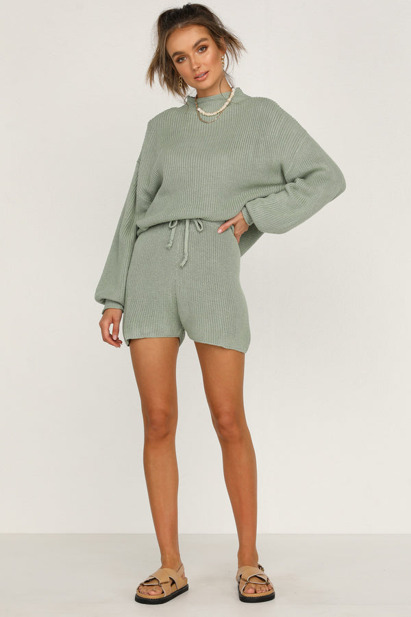 Kavala Knit Shorts (Sage)