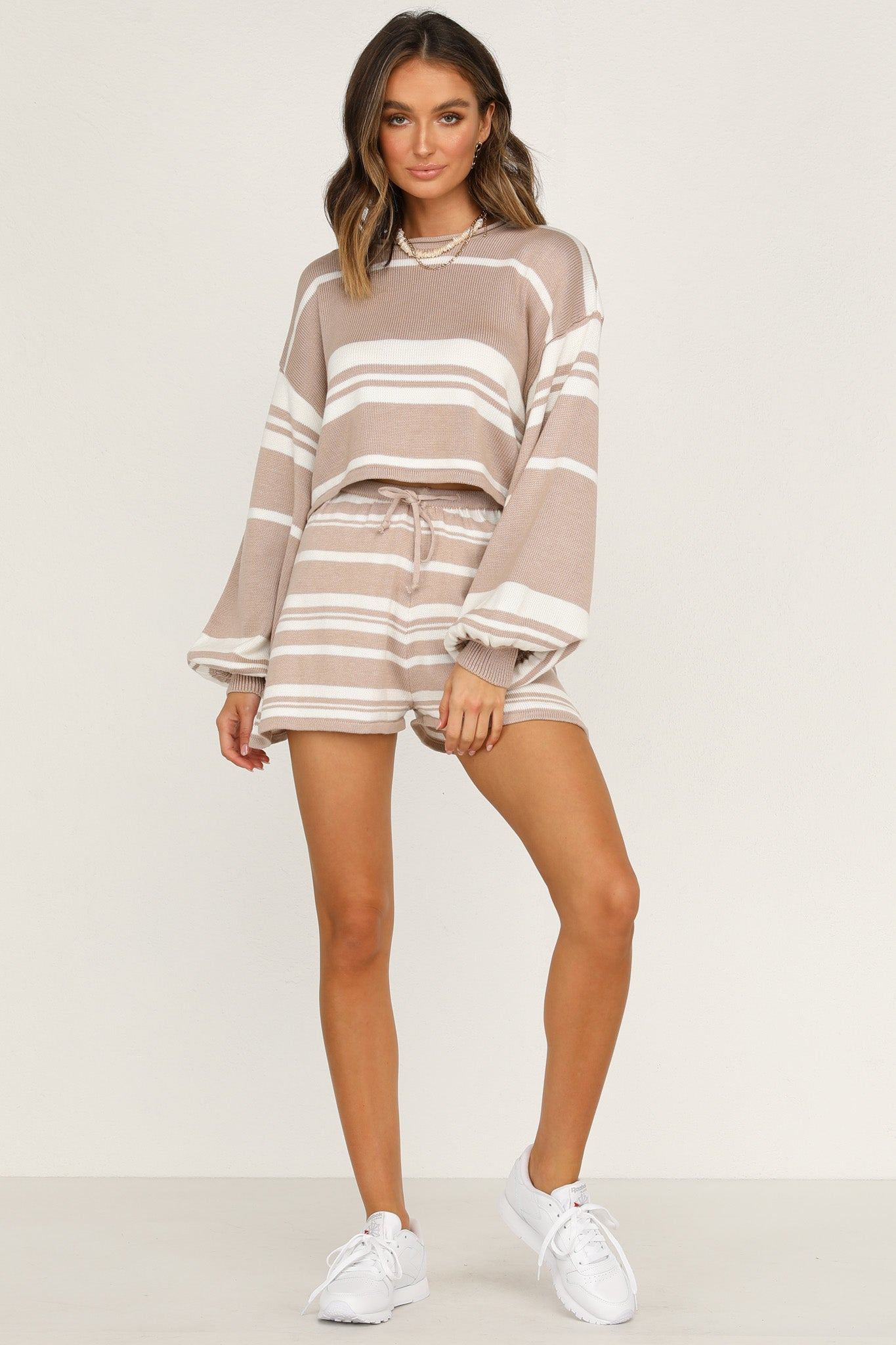 Best Behaviour Knit Shorts (Mocha)