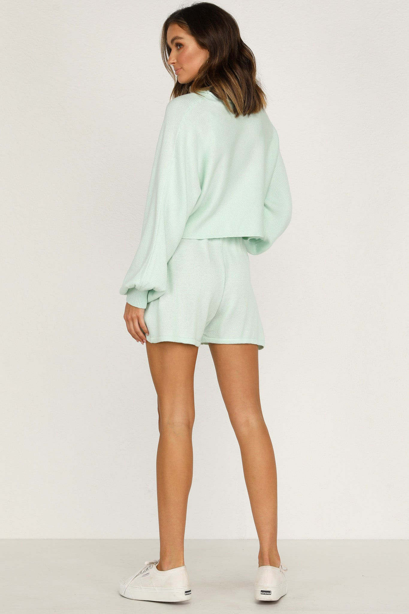 Chantelle Knit Shorts (Mint)