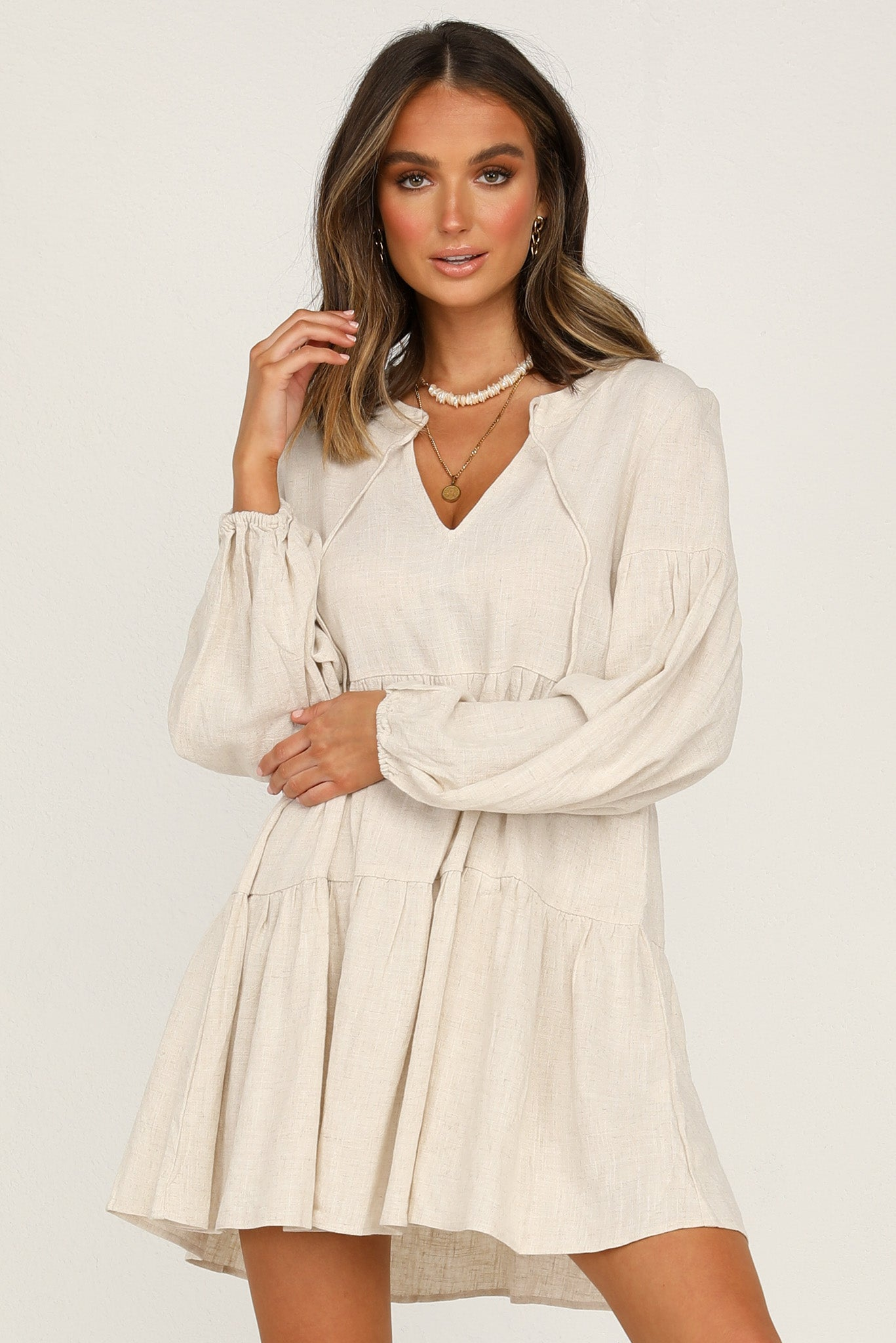 Ainsley Dress (Beige)