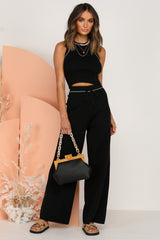 Aveline Knit Pants (Black)