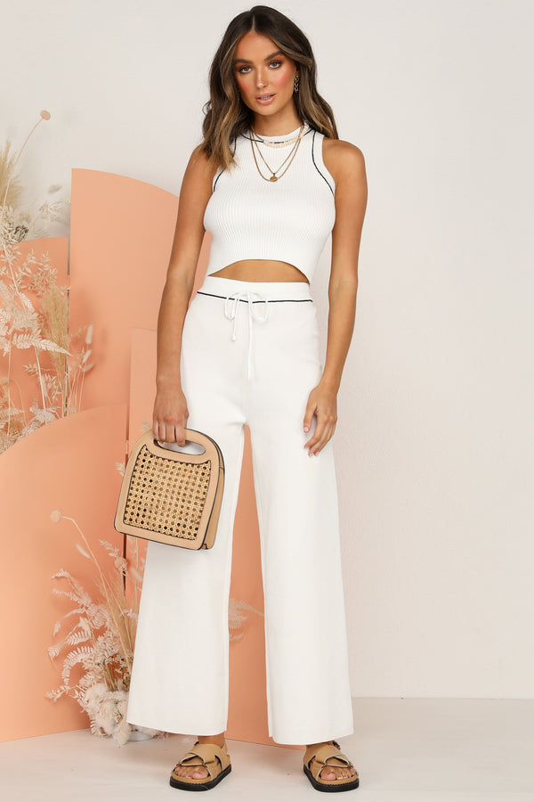 Aveline Knit Pants (White)